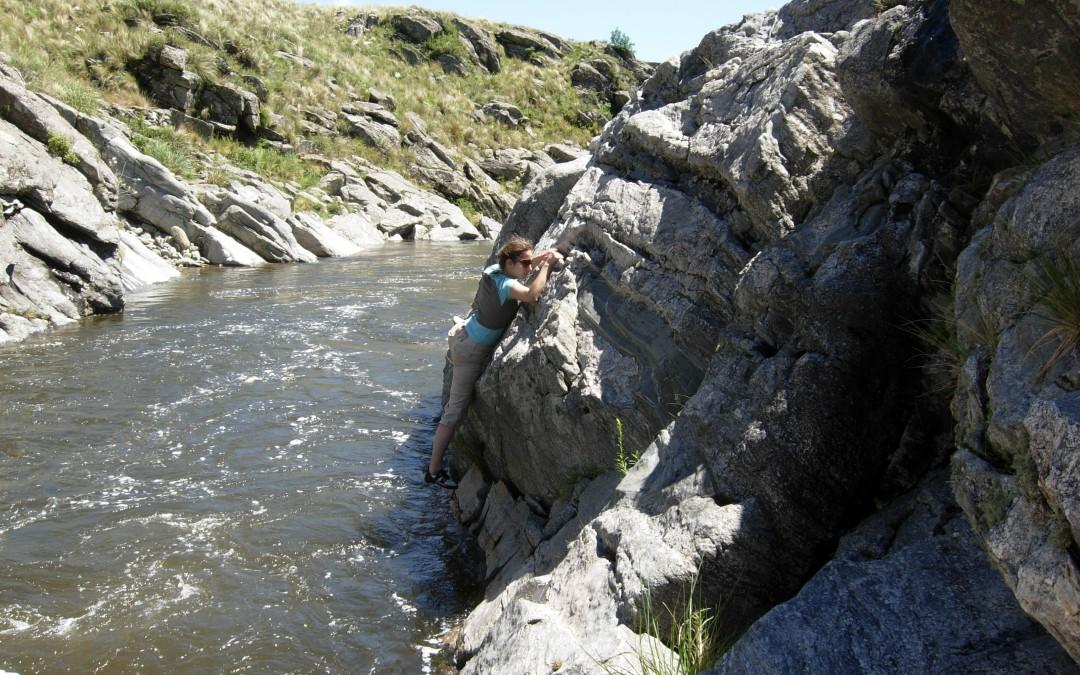 Recibiendo el año escalando los Vallecitos de Merlo, San Luis, Argentina