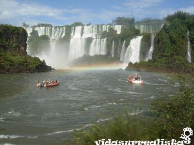 Paseo en gomón por las Cataratas del Iguazú