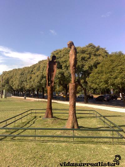Raúl Farco en el Paseo de las Esculturas