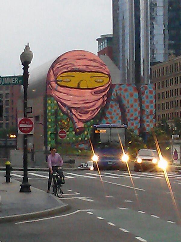 Grafiti en el Boston Financial Center
