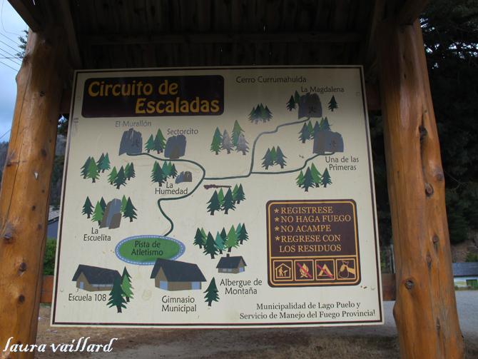 Vias de escalada en Lago Puelo
