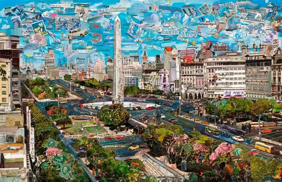 Postales de ningún lugar de Vik Muniz en Buenos Aires