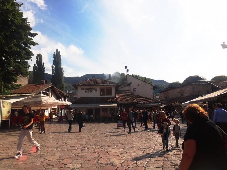 Parte del casco histórico de Sarajevo