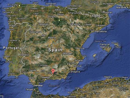 Los Cahorros Monachil Mapa.Los Cahorros Monachil Granada Mapa